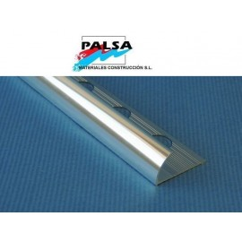 PERFIL ALUMINIO PLATA BRILLO 12 mm